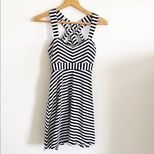 Candie's Black and White Stripped Dress